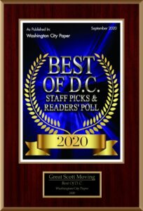 Movers in Maryland Best of D.C. 2020